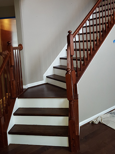 Interior Painting Staining Staircase Eldersburg