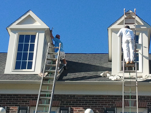 Painting Exterior Eaves Gables and Fascia trim